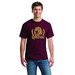 Lion Brewery 100% Heavy Cotton Lionshead Maroon T-Shirt