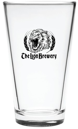 Lion Brewery Pint Glass